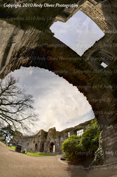 Castle through arch
