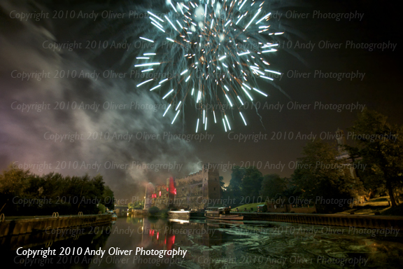 Fireworks over Newark Castle